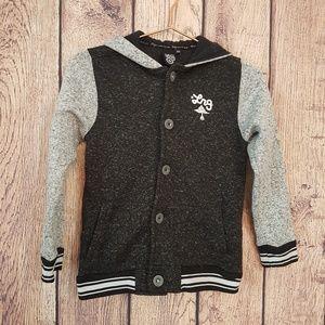 LNG boys school style jacket black Gray Size M